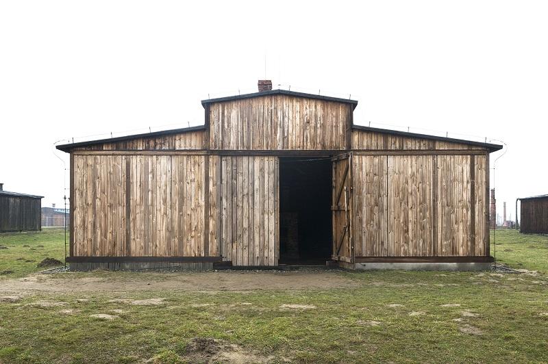 Ehemalige Latrinenbaracke des Konzentrations- und Vernichtungslager Auschwitz II